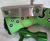 Wholesale Clean up the inventory green CNC style golf clubs golf putter inch top quality steel shaft putter with weight g