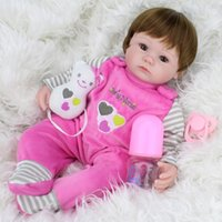 Cheap Unisex 40cm Silicone Reborn Baby Best 3-4 Years Vinyl Toys For Bouquets Doll Bebe Reborn