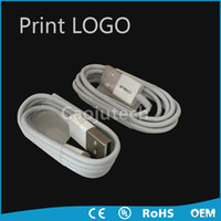 Wholesale 3FT Genuine looks Micro data charging USB cable for IP with retail box DHL print Logo