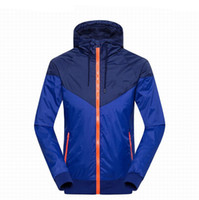 Wholesale Men Spring Autumn Windrunner jacket Thin Jacket Coat Men and women sports windbreaker jacket explosion Black models couple clothin Men s