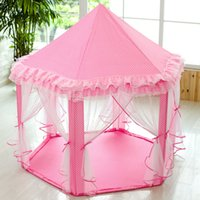 Wholesale New South Korean Children s Games Tent Six Children s House Princess Castle House Baby Toy Tents