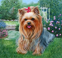 Wholesale 5D needlework Diy diamond painting cross stitch kits full resin square diamond embroidery Mosaic Home Decor animal cute dog zf0056