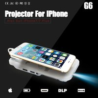 Wholesale Mini Projector LED Pocket DLP Mobile Phone P Home Cinema For IPhone IPad Pico Portable Micro HD Apple IPhone Plus Gift