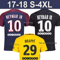 13813cf9016 Soccer Men Short MBAPPE NEYMAR JR 17 18 soccer jerseys 2017 2018 DI MARIA  Black Football