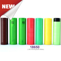Wholesale Rechargeable Batteries Ecig Battery High Drain A V mah For Ecig Box Mod r HG2 HE4 HE2 VTC4 VTC5 Fedex