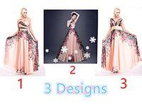 Compra Karin gracia larga-3 diseños Grace Karin Stock un hombro flor patrón de impresión floral vestido de noche de gasa vestido de fiesta largo vestidos de dama de honor