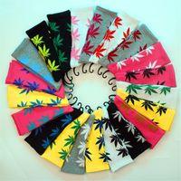 Wholesale 36 Colors maple leaf sport socks christmas plant life sock for men women cotton socks skateboard hiphop socks
