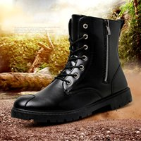 Wholesale New high fashion leisure for men s boots winter outdoor Martin boots male tide antiskid shoes wear comfortable and warm