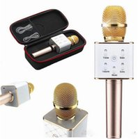 Wholesale Q7 bluetooth Microphone Portable Wireless Karaoke Handheld Condenser Microphone with Speaker for iPhone s iPad Samsung Smartphones