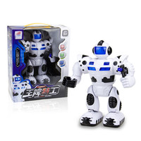 Wholesale EMS New Kids Boys Electric Robot Toys with Musical Space Walking Dancing Children s Day Birthday Gift