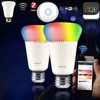 Wholesale Wireless Zigbee Link Light Smart Bulb W RGBw LED lamp Color Changing Compatible Hue APP Remote Control Intelligent Bulb E26 E27