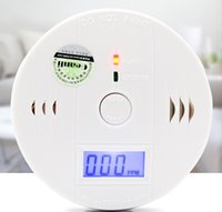 Wholesale Intellgent CO Carbon Monoxide Poisonous Toxic Independent Smoke Alarm Detector with LCD display battery not include
