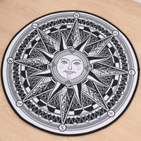apollo god - 2017 New Round Rugs and Carpets Home Decor Apollo Sun god doormat Carpets Floor Mat For Living Room