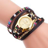 Ginebra Ms caliente estilo Estados Unidos vender como pan tostadas moda mesa de pulseras 2016 Señoras reloj Tres vueltas alrededor de las damas de moda reloj