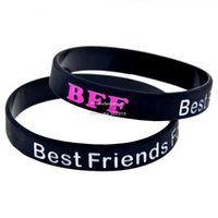 bff wristbands - BFF Best Friends Forever Wristband Silicon Bracelet Colour Filled In Adult Colours
