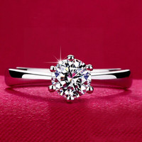 Wholesale 925 sterling silver Rings with CZ diamond wedding Rings for women WeddingParty Birthday Jewelry Engagement