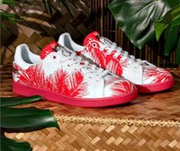 Wholesale 1 quality PW STAN SMITH BBC PALM Red leaves shoes for man S82072