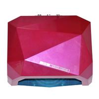 großhandel ccfl lamp-Auto Sensor 12W CCFL + 24W LED UV Lampe 36w Gel Nagel Maschine trocken 110-220v Nägel Diamant geformt Curing Nail Trockner für UV Gel Nail US EU Plug