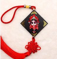 auspicious meaning - Chinese Wind Gift Peking Opera Facial Handmad Pendant Chinese Knot Jewelry Auspicious Meaning Faceplate Car Accessories Festive wedding
