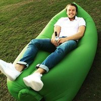 Wholesale Fast Inflatable Hangout Camping Sofa banana Sleeping Lazy Chair Bag Nylon Hangout Air Beach Bed chair Couch
