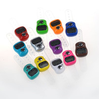 Wholesale HOT New Stitch Marker and Row Counter LCD Electronic Digit Tally Counter