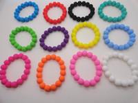 Wholesale Silicone Bracelets DIY Beads Bracelets Candy Colors