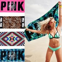 Wholesale VS Pink Beach Towel cm Leopard Diamond Bath Towels Bathroom Towels Mat Swimming Soft Drying Cloths OOA1302