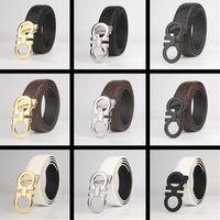 Wholesale New Top Designer Belts Men High Quality Men s Belts Luxury feragamo Smooth buckle Buckle Leather Belts For Men