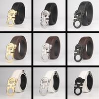 achat en gros de qualité supérieure 36-Nouveau Top Designer ceintures Hommes Haute Qualité Hommes Ceintures de luxe feragamo Lisse boucle Boucle Ceintures en cuir pour les hommes Livraison gratuite