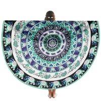 Wholesale Fish SunDay Round Beach Pool Home Shower Towel Blanket Table Cloth Yoga Mat Levert Dropship Nov29