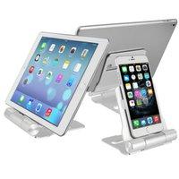 Wholesale Mobile Phone and Tablet Stand Holder Aluminum Alloy Desktop Lazy Support Folding Detachable Bracket Durable
