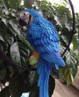 Wholesale blue Hottest sale Home Decoration Bionic Parrot Resin Handicraft Best Ornaments For Part And House Garden Decor