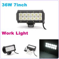 Wholesale 2PCS INCH W CREE LED WORK LIGHT BAR FLOOD SPOT OFFROAD LIGHT FOR TRACTOR BOAT ATV MILITARY LED WORK LIGHT BAR