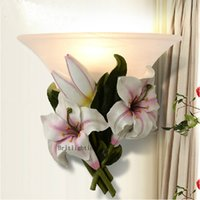 Frosted Glass Art Deco Wall Mouted European-style garden wall lamp flower wall sconce bedroom lights frosted glass interior wall lamps for kid's room lamps Price: