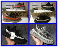 Wholesale with original box SPLY boost V2 Season women mens shoes boots kanye west orange grey black stripe sneakers running shoes