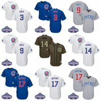 Wholesale 2016 World Series Champions patch Youth David Ross Javier Baez Ernie Banks Kris Bryant Kids Baseball Jersey
