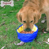 Wholesale Zipper Design Portable Pet Dog Cat Collapsible Foldable Bowl Travel Camping Food Water Feeder Bowl With Hook