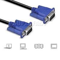 Línea de hd Baratos-1080P HD VGA Monitor Cables de 1,8M / 6Ft macho superior a macho cables de extensión 3M / 10Ft líneas VGA para pantalla de computadora con OPP paquete