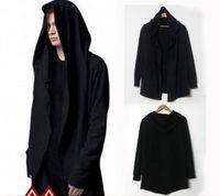 avant garde mens fashion - Fashion Avant garde Big Hood Double Coat Mens Hoodies Sweatshirts Black Cloak Assassins Creed Outwear Oversize Chandal Hombre