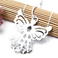 Wholesale Best Price Metal Bookmark White Ribbon Tassel Angel Bookmark Wedding Baby Shower Party Favors Gifts For Books