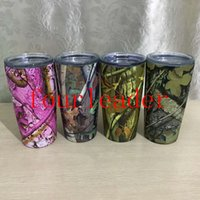 Wholesale 2017 DHL OZ CAMO yeti cup camouflage yeti mug COLOR YETI OZ Rambler Tumbler Stainless Steel Cup WITH LID IN STOCK