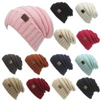 Wholesale 2017 New Unisex CC Beanies Elegant Knitted Hats Cap Beanies Autumn Winter Casual Cap Women Men Christmas Gift color