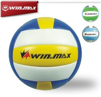 Cheap 2015 Winmax Classical Brand Machine Stitched 2.0mm PVC Voleibol Volleyball Ball Indoor Compitition Ball Three Colors