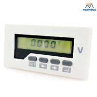 Digital Only AC Electrical ME-AV5Y 48*96mm single phase white and black AC 220V LCD digital display AC voltage panel meter