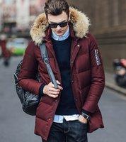 best down jacket for men - Best Selling Mens Down Parka Hooded Winter Thick Duck Down Coat Outwear Jacket Coats For Men