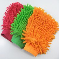 Wholesale 24Pcs household clean tools discount glove Chenile Micorfiber Gloves Wash Glove Cleaning Cloth chenille Glove car clean towel