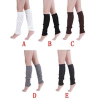 acrylic description - Delicate Autumn Winter Knitting Wool Leg Warmers Hollow Out Leaves Knee Legging Description Hot Selling