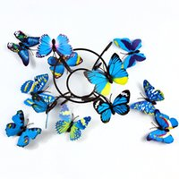 Wholesale Simulation butterfly magnet Butterfly CM magnetic Butterfly color butterfly Fridge Magnet Three dimensional wall stickers