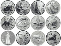 astrological signs leo - 12 Full Set Russia Astrological Sign Constellation Silver Plated Coins Token Capricorn Aquarius Pisces Aries Taurus Gemini Cancer Leo Vi
