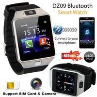 Wholesale DZ09 U8 Smartwatch Smart Sport SIM Digital Electronics Wrist Phone Watch With Men Women For Apple Android Wach Wearable Devices